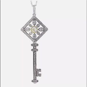 Jewelry - 2.62ctw Canary, White Diamond Stimulants Rhodium
